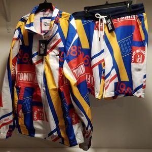 NWT Tommy Hilfiger Denim Jacket and Shorts Set